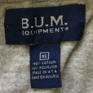B.U.M equipment Shirts - B.U.M Sleeveless Sweat Tee. Size XL Grey 3/$30